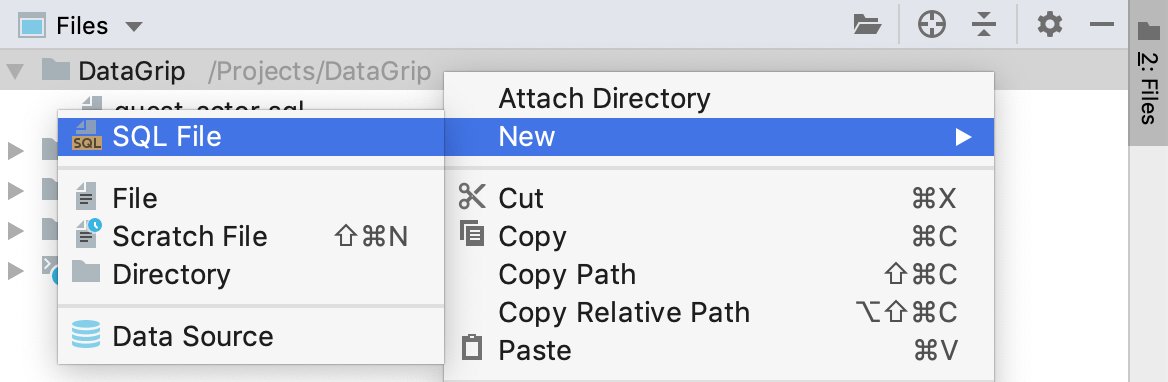 Create an SQL file