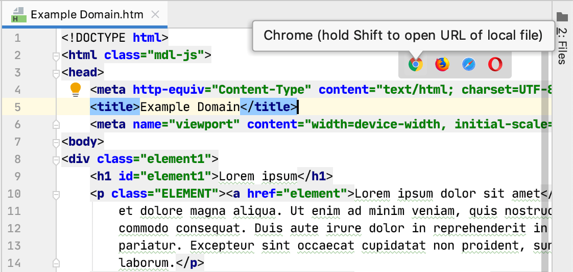Show in browser