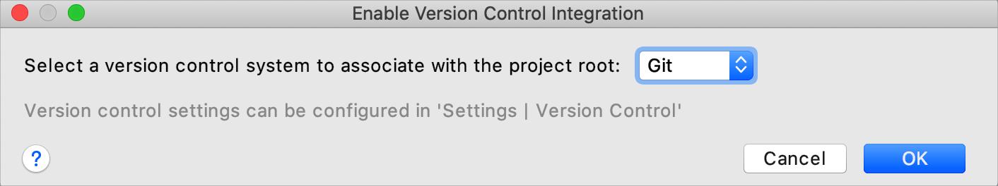 Enable version control integration