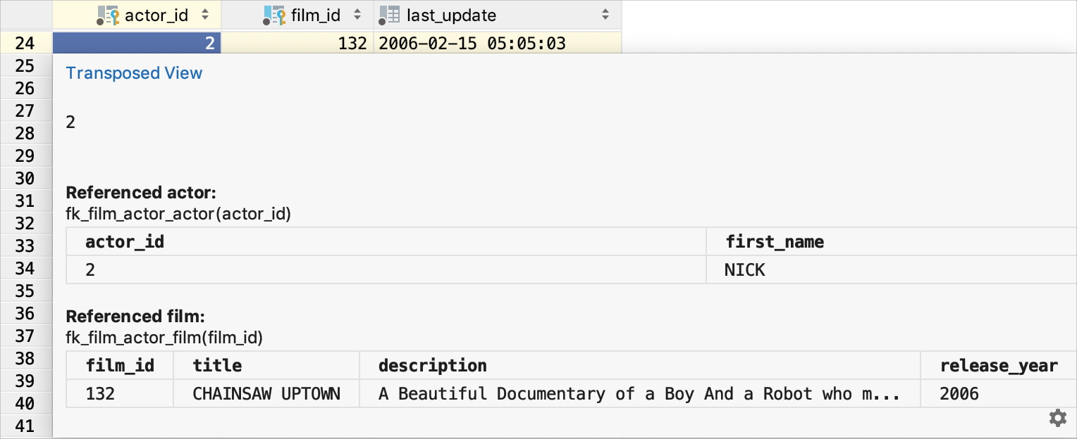 Quick documentation view for an image
