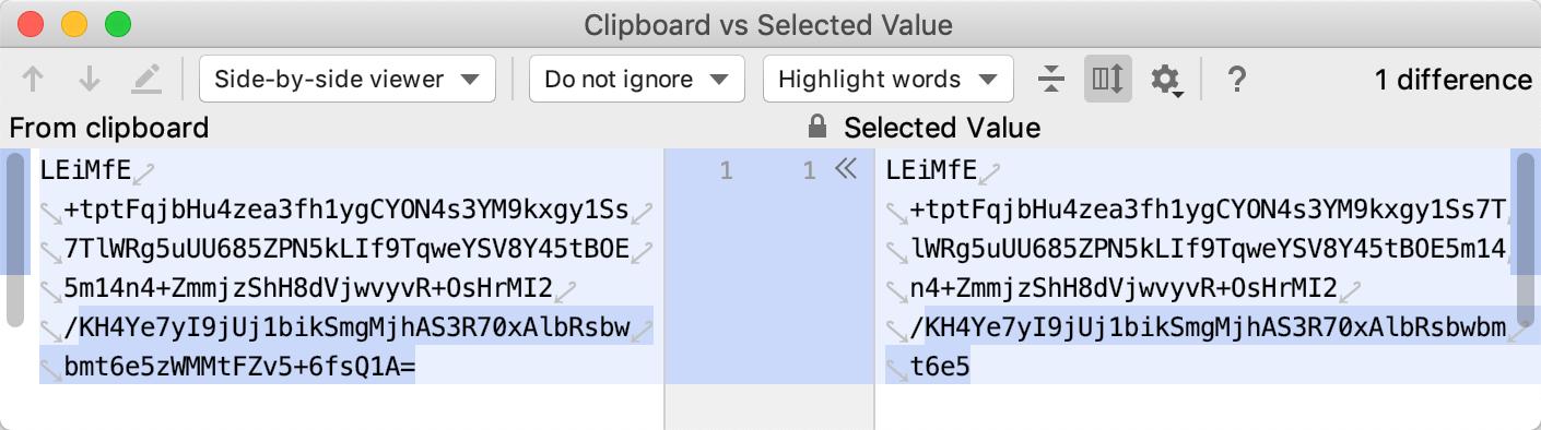 Clipboard vs Selected dialog