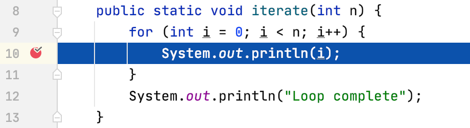 Steps out of the for loop but not the method