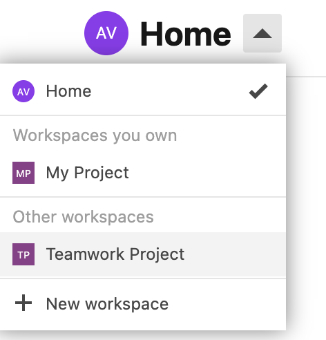 Show read access shared workspaces