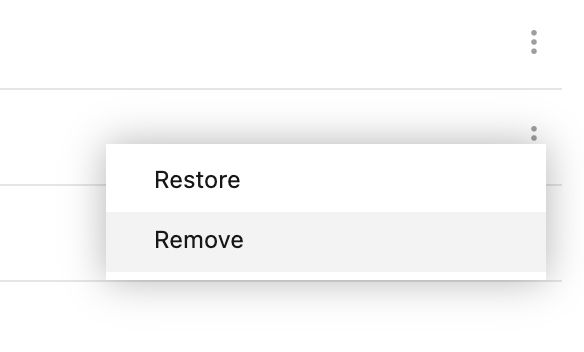 Remove trashed item