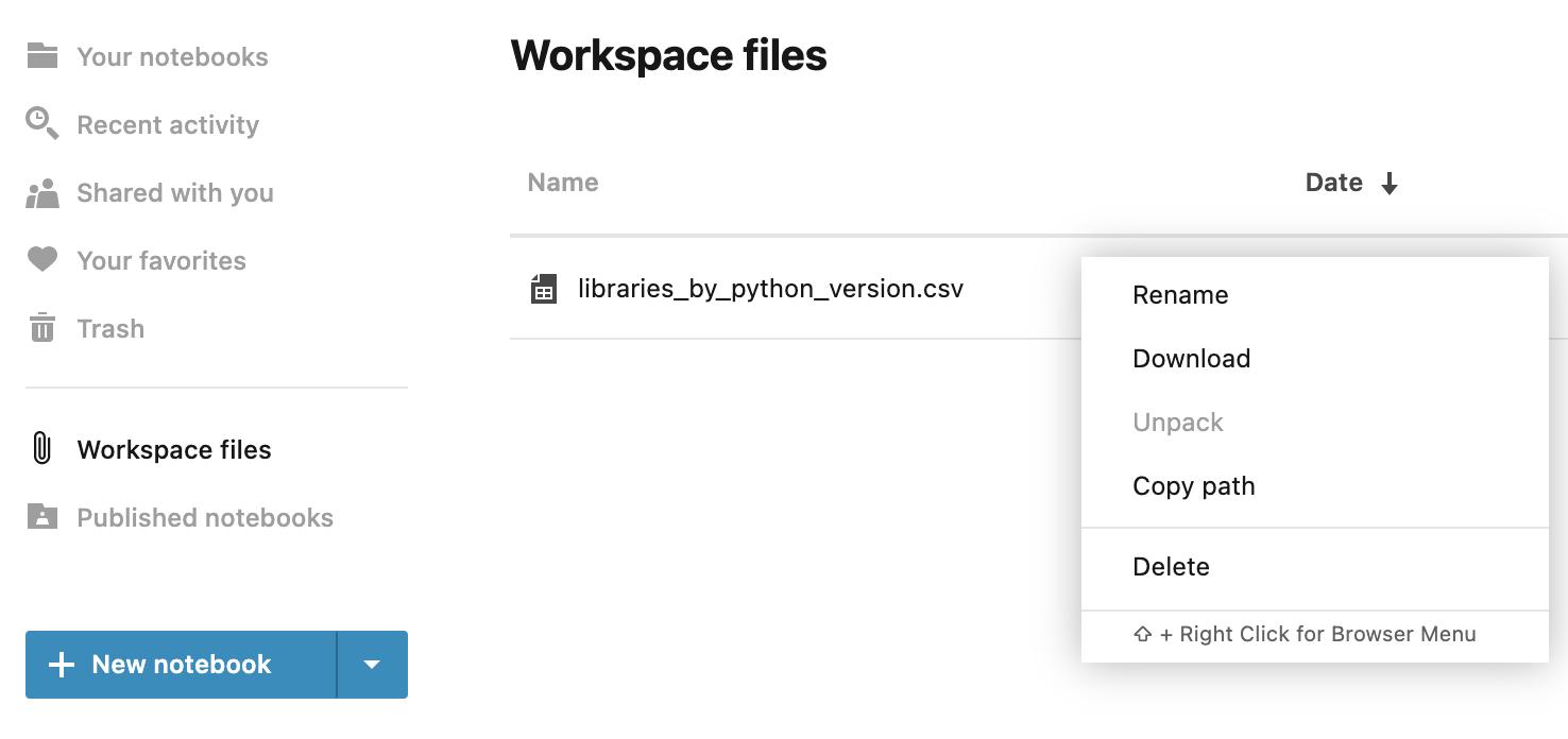Workspace files