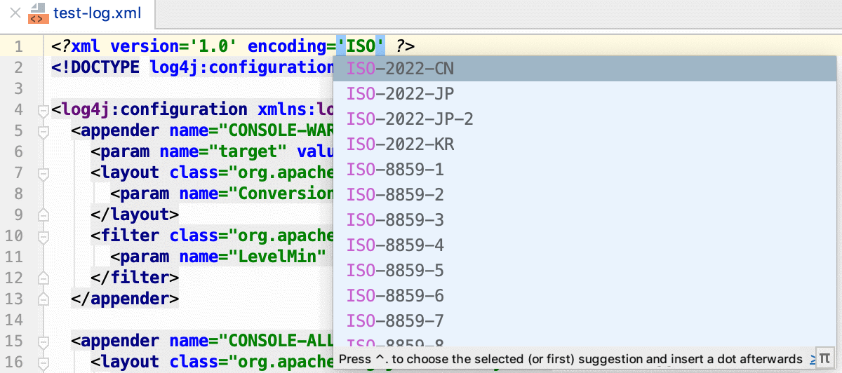 Explicit encoding