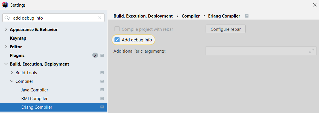 Erlang Compiler add debug_info