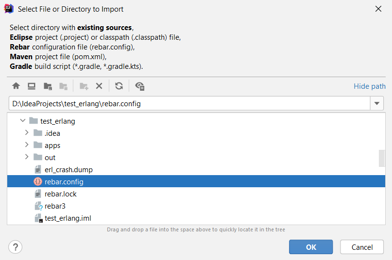 Importing existing Erlang project