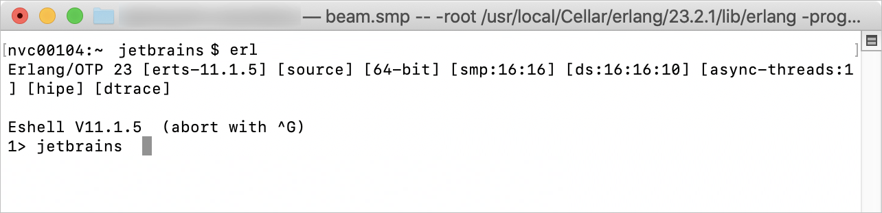 Verifying the Erlang OTP is installed correctly