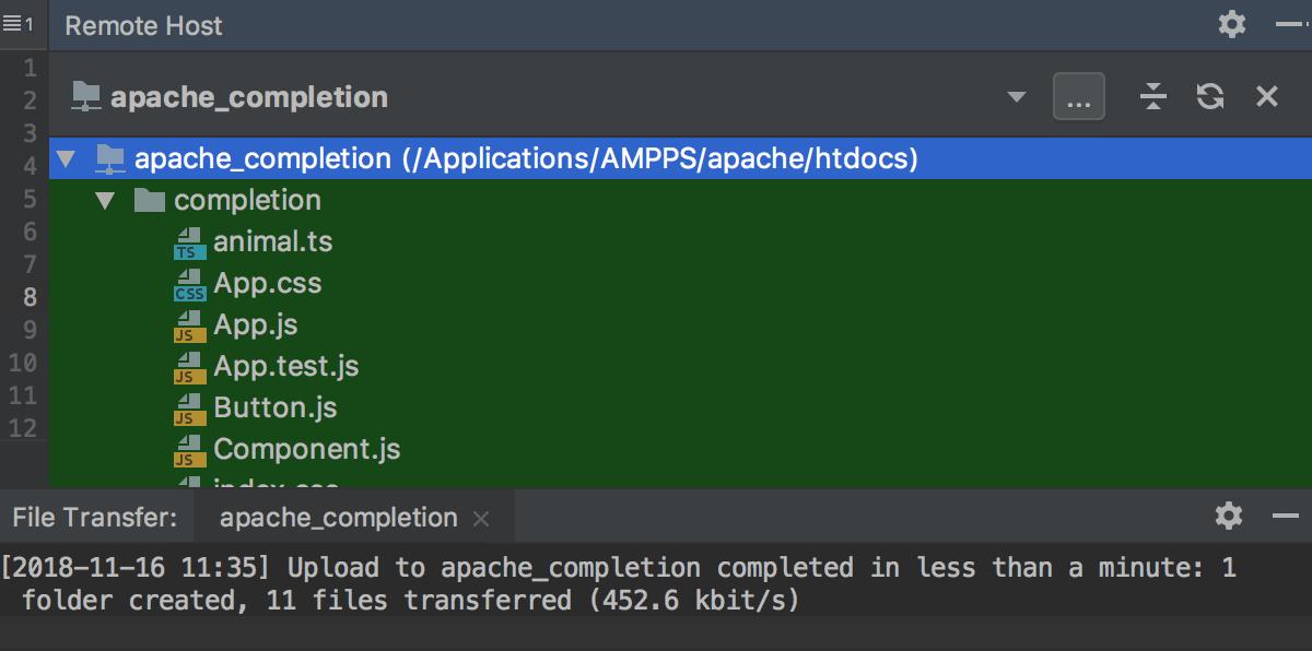 File Transfer tool window
