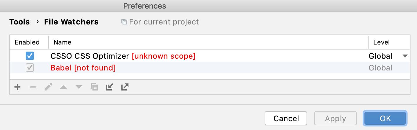 File Watcher Error Message
