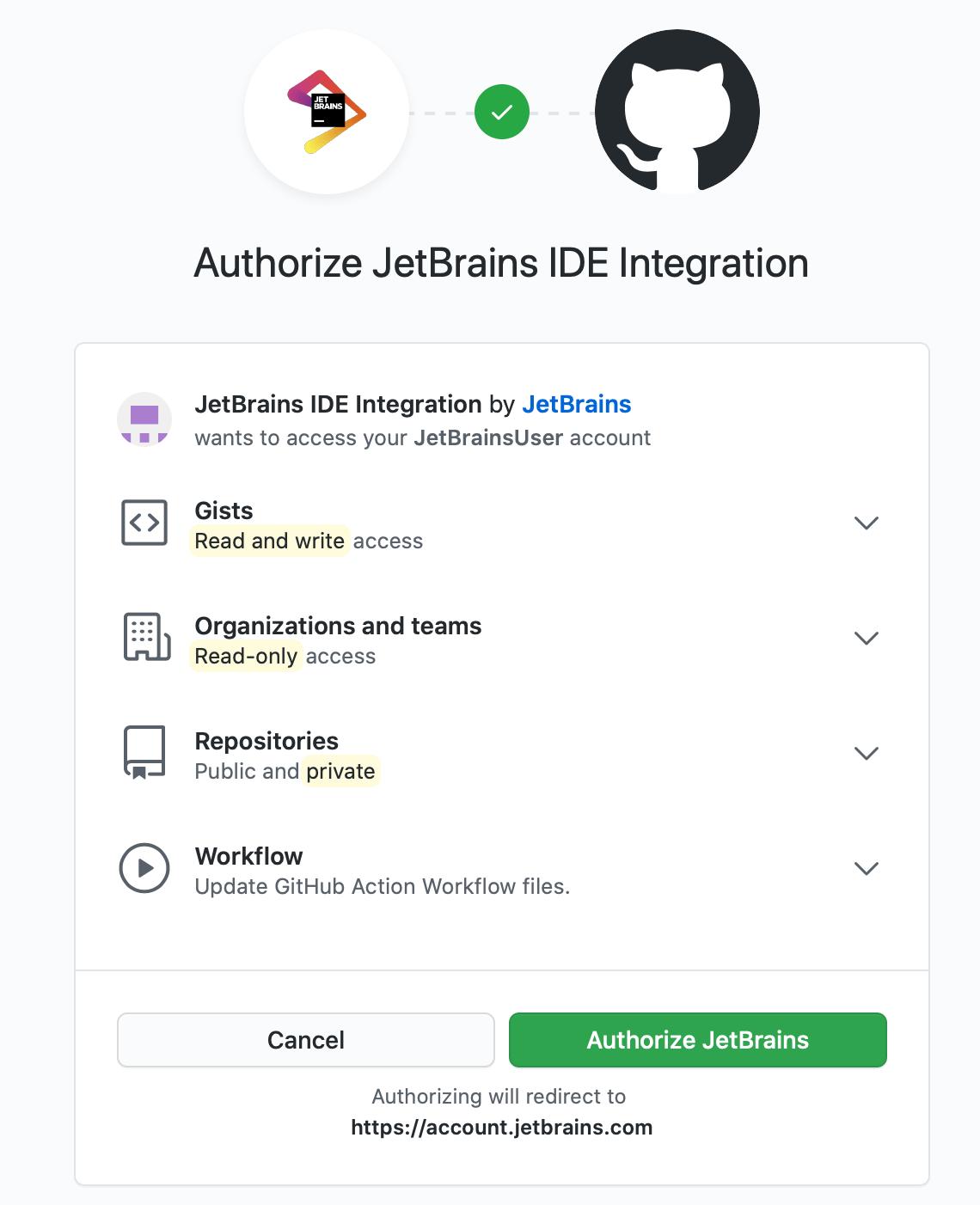 Authorize in GitHub