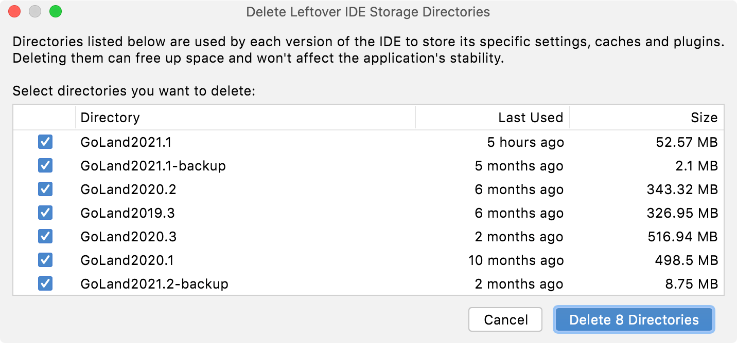 automatic cache and logs cleanup