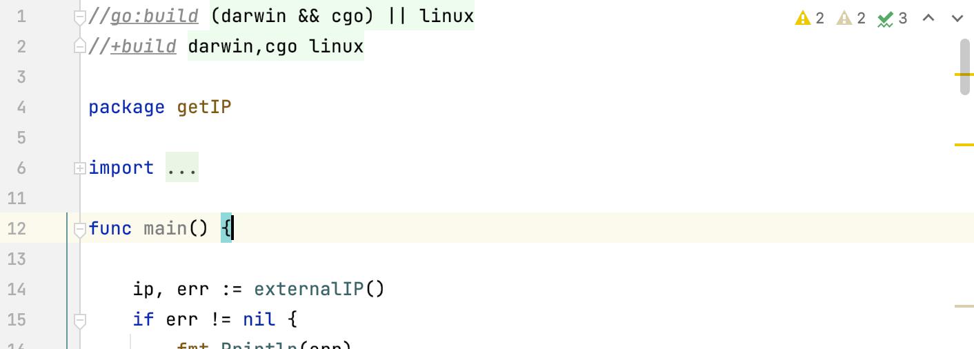 build constraints in go1.16