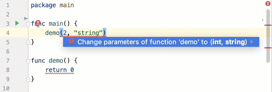 Change function parameters