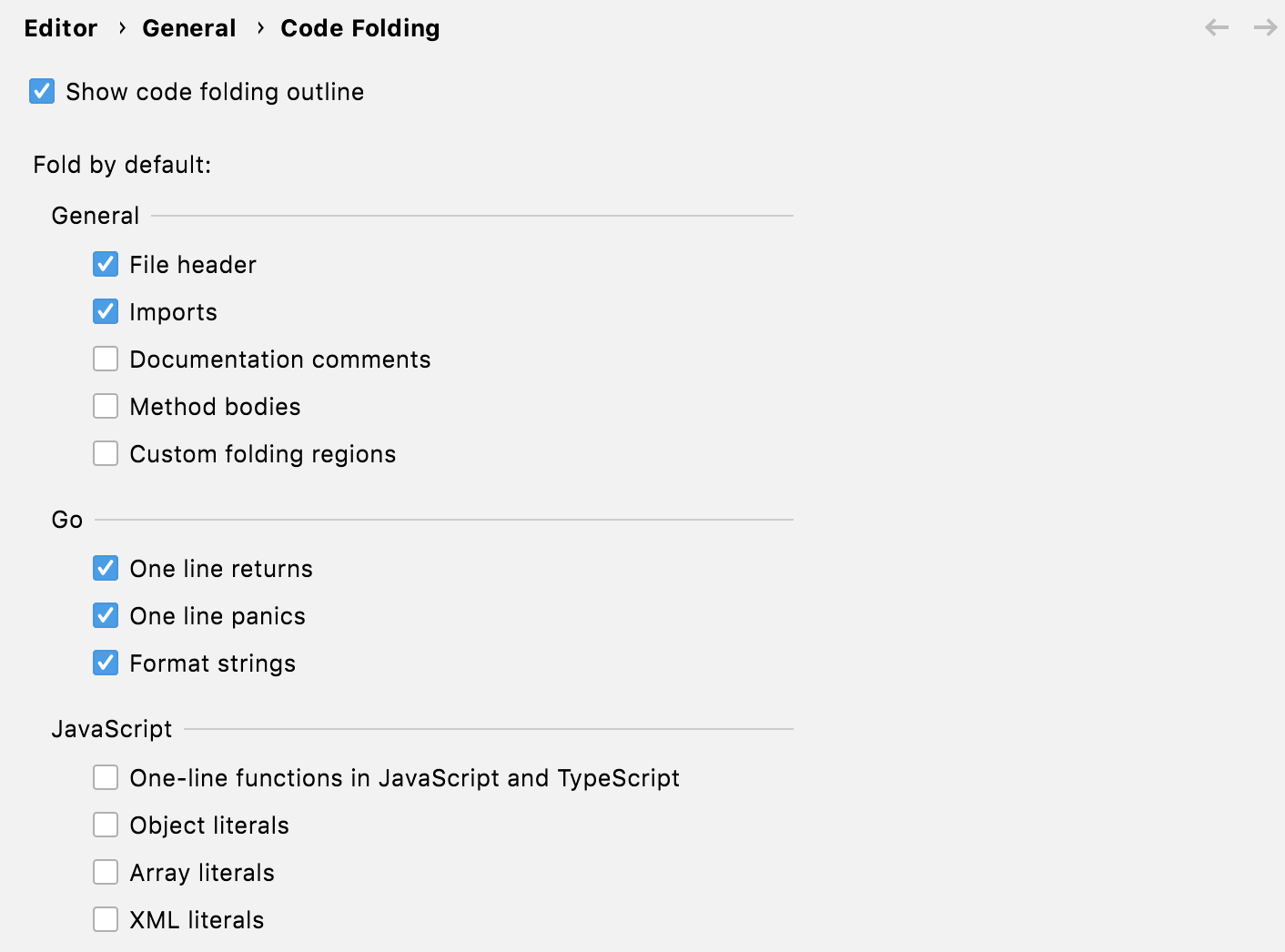 code folding for one-line returns/panics and formatted strings