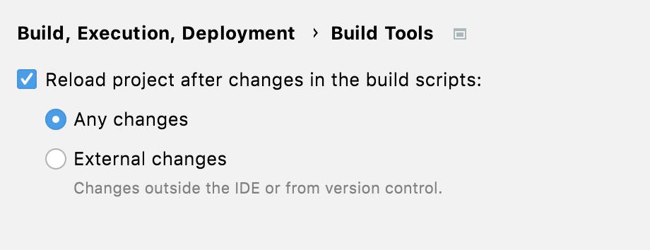 Configuration for running 'go list'