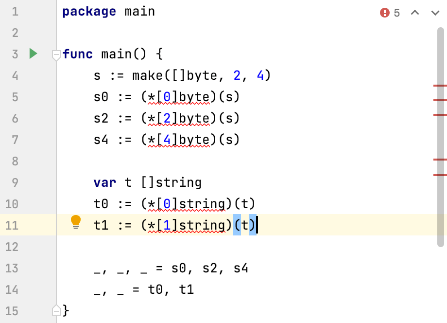 converting a slice to an array pointer