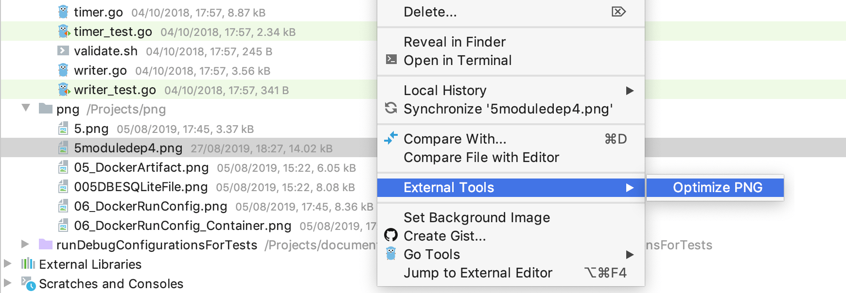Run External tool