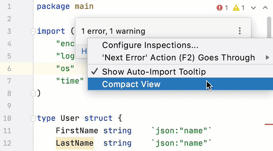 Configure the widget