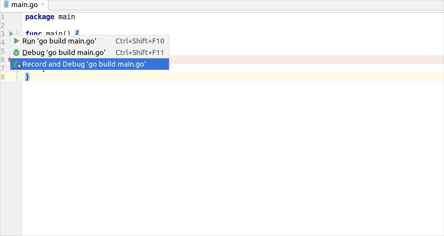 Debug code with Mozilla rr