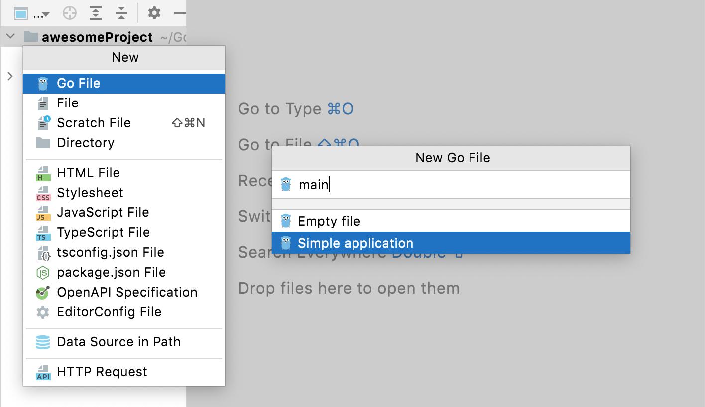 Create a Go file