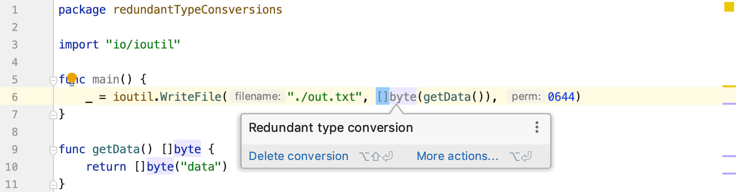 Redundant type conversions