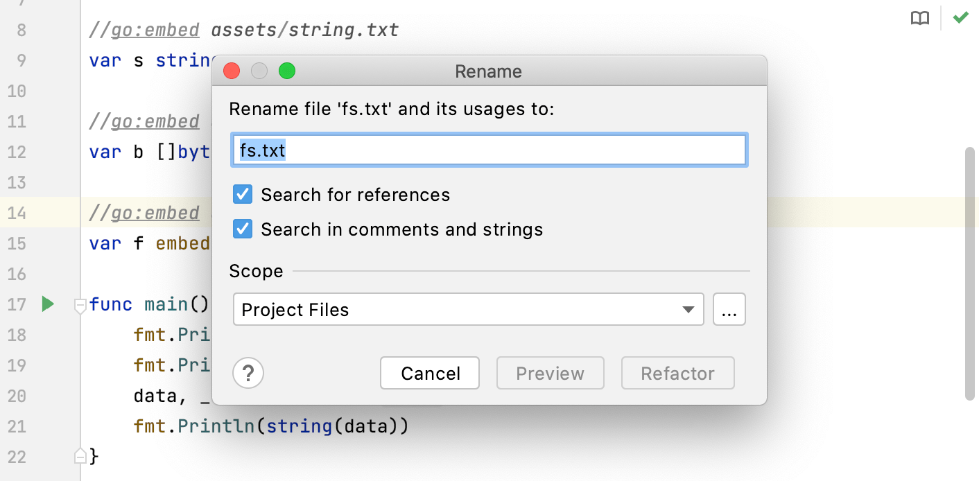 Rename files and directories
