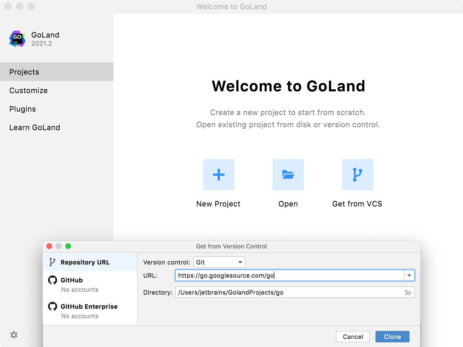 Step 1. Clone the Go sources