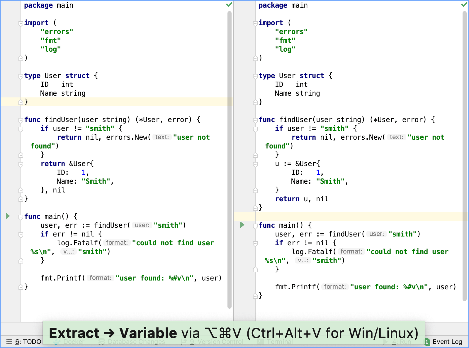 Extract a variable