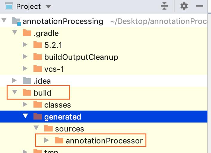 Project tool window: annotationProcessor