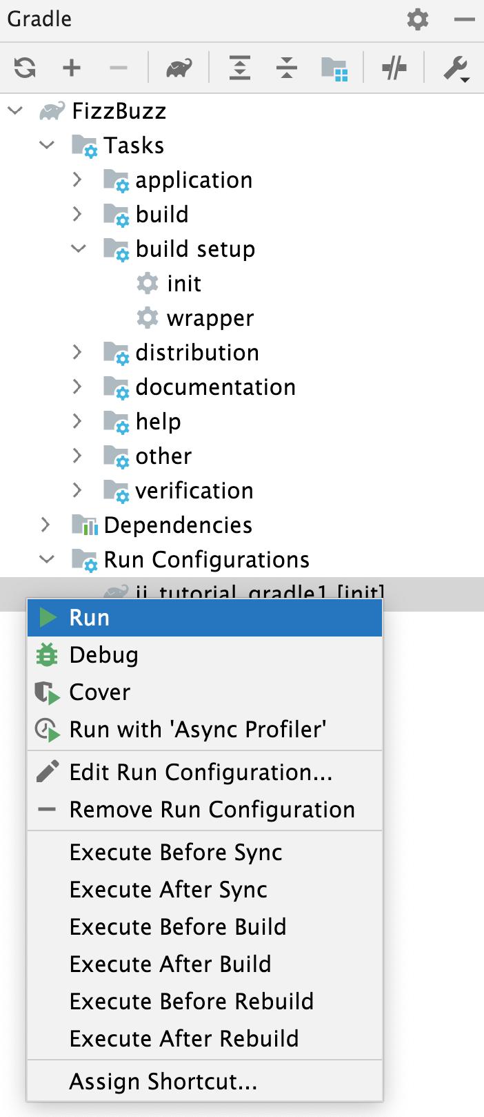 Run Configurations: the context menu