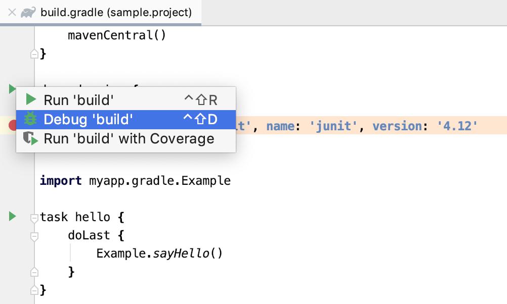 Debug build script