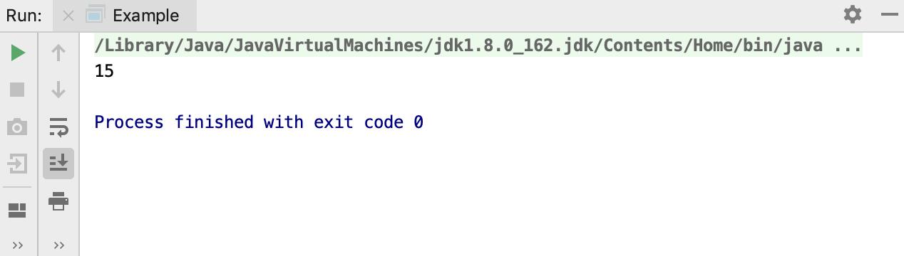 Run tool window / run Groovy application