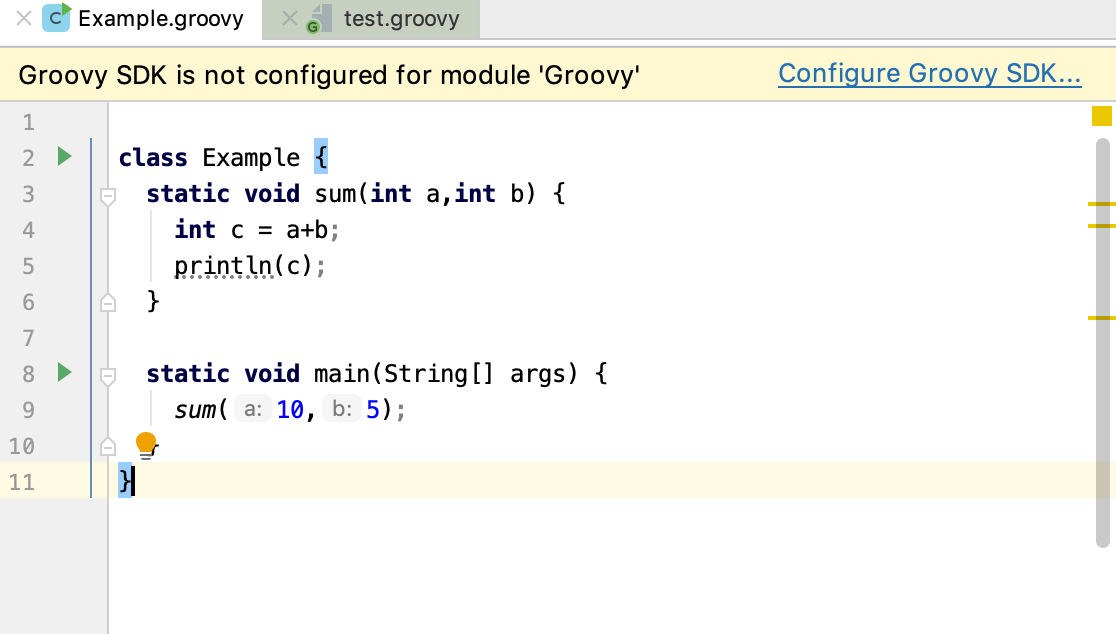 Configure Groovy SDK popup