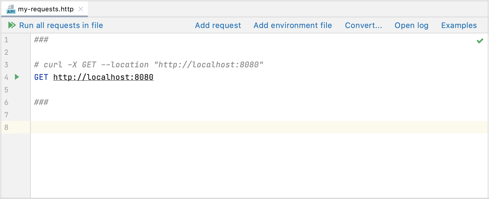 cURL request converted to HTTP request on paste