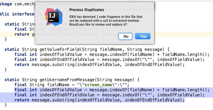 Refactor duplicate code