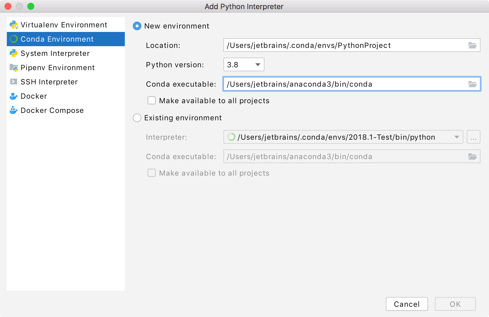 Configuring a new Python SDK