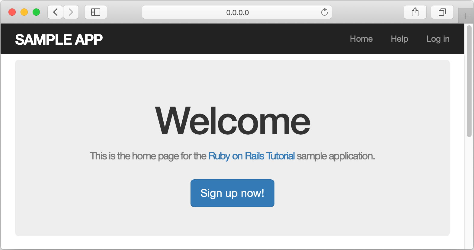 Rails application in a browser