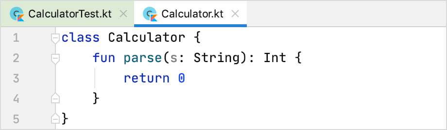 Implementing the function in the tested class