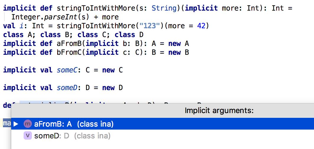 Implicit arguments