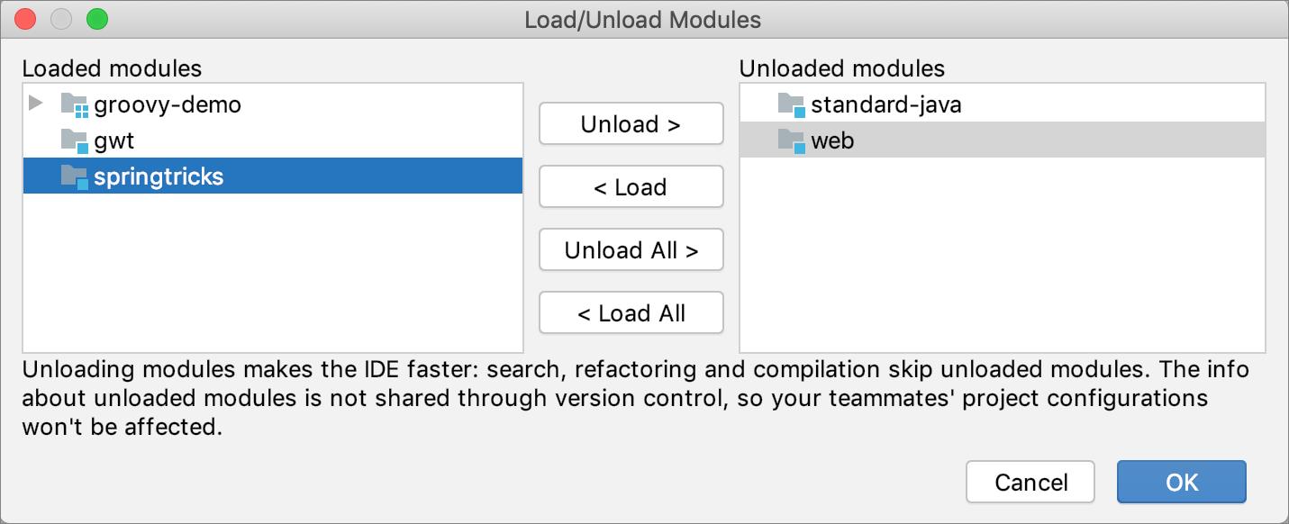 Unloading a module