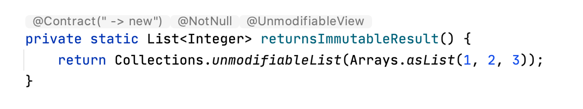 Inferred annotation shown inline with the code