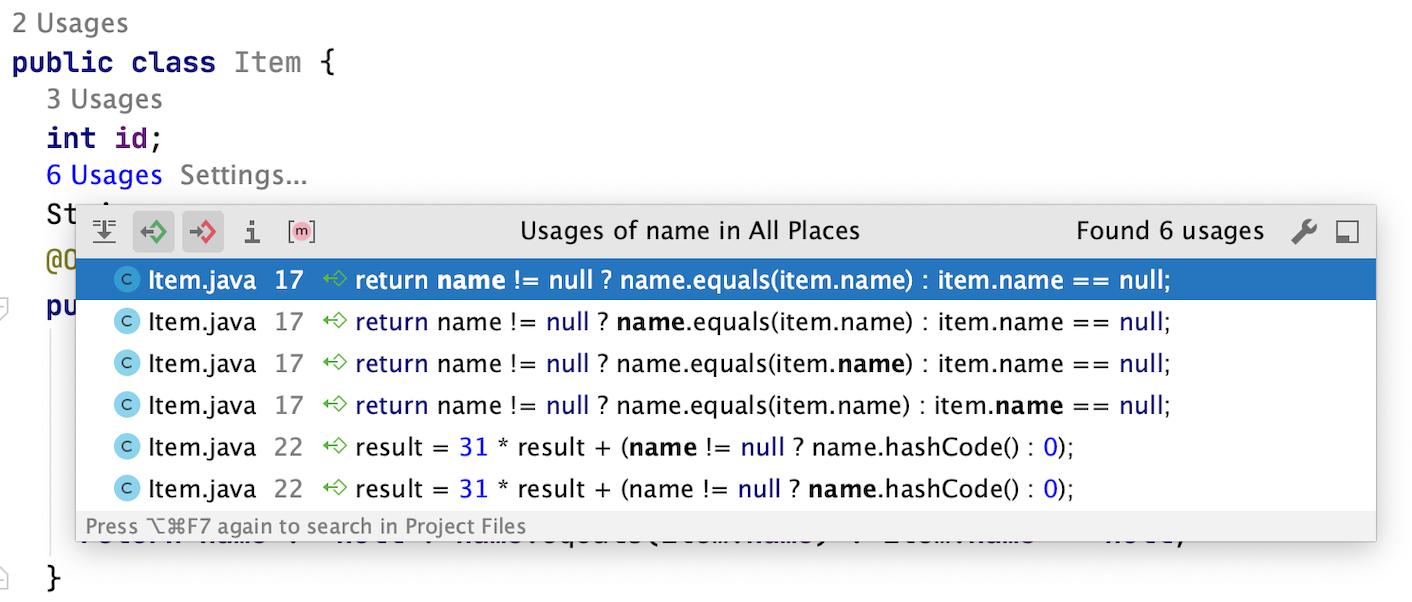 Inlay hint: Usages