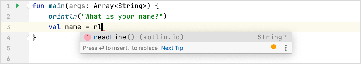 Code completion in action