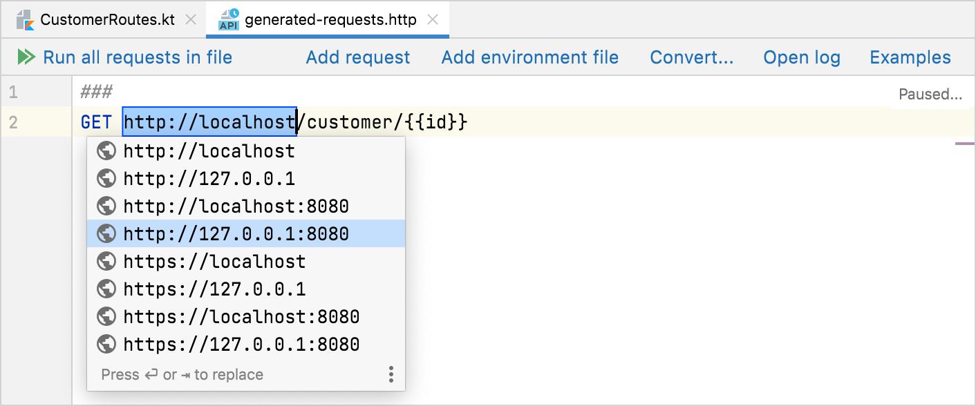 Adjust request parameters