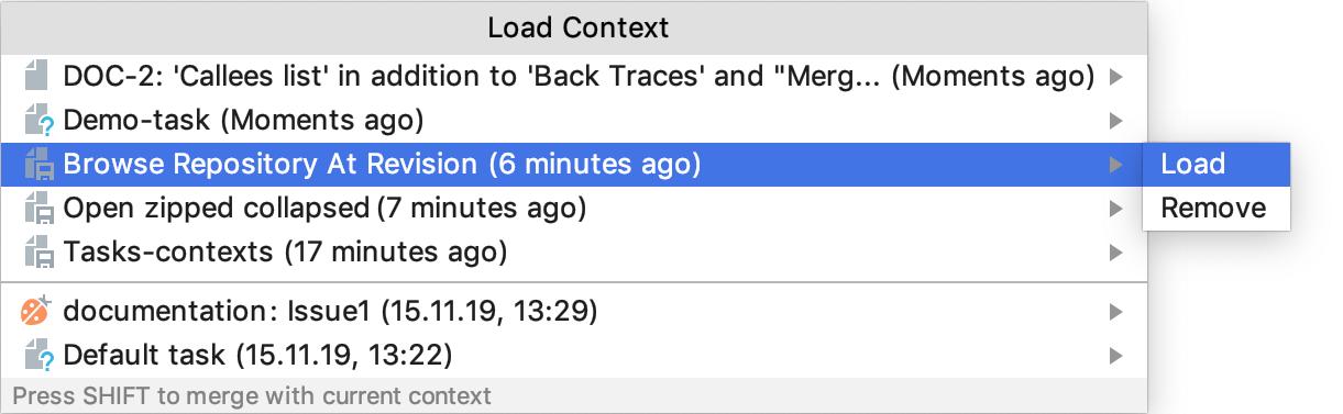 Loading a context