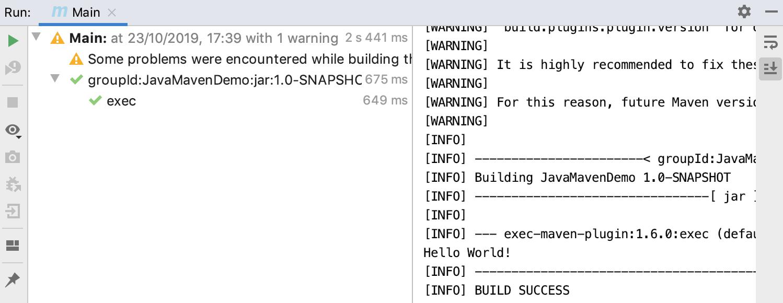 Run tool window
