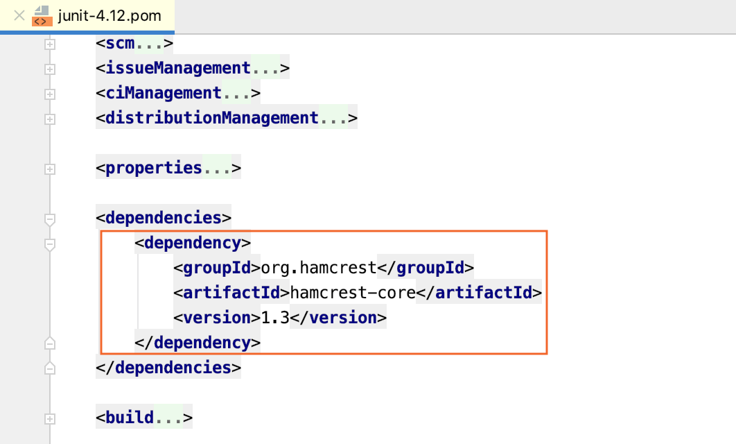 the dependency POM with transitive dependencies