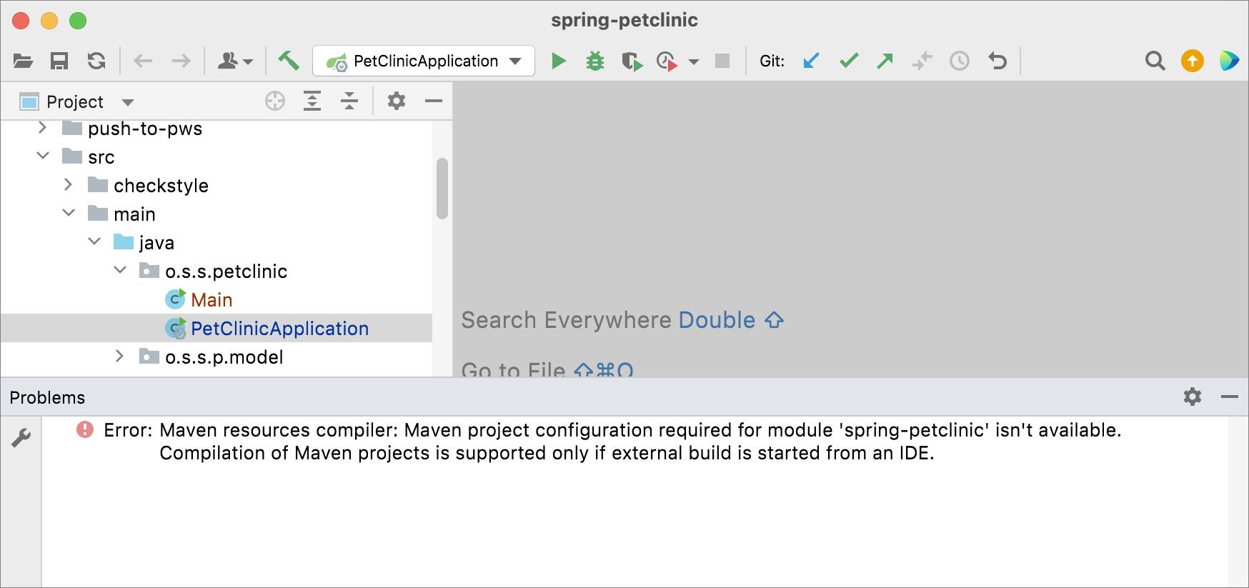 Problems tool window